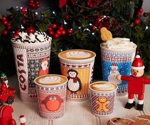 christmas, coffee, and costa image