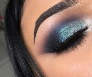 blue and makeup image