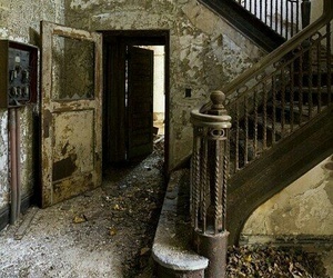 abandoned, dark, and old image
