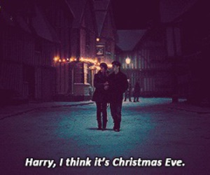 harry potter, christmas, and christmas eve image