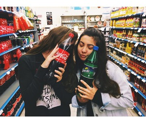 best friends, coca-cola, and forever image
