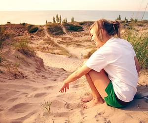 girl, sand, and photography image
