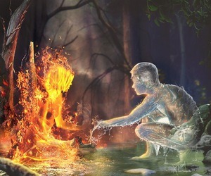 art, fantasy, and fire image