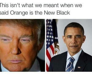 obama, funny, and trump image