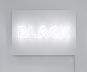white, black, and light image