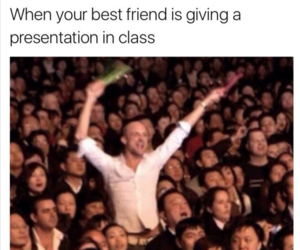 funny, presentation, and friends image