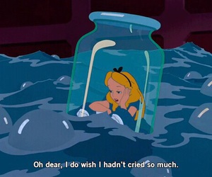 cry, alice in wonderland, and alice image