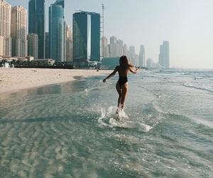 Dubai, girl, and tropical image