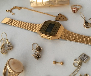accessories, casio, and gold image