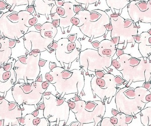 wallpaper, pig, and animal image