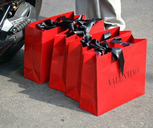Valentino, fashion, and red image