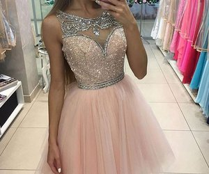 dress, girl, and beautiful image