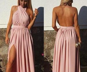 backless, backless dress, and dress image