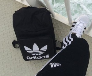 adidas, backpack, and shoes image