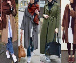 ootd, hijabista, and trench jacket hijab look image