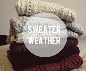 sweater, sweater weather, and fall image