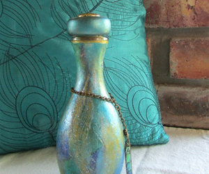 etsy, Glass Bottle, and peacock image