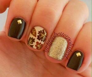 nails, nail art, and autumn image
