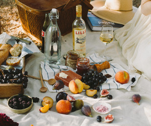 food, picnic, and fruit image