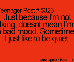 quiet, teenager post, and quote image