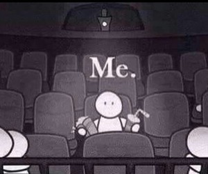 me, alone, and cinema image