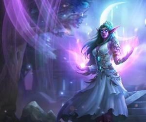 elf, fantasy, and warcraft image