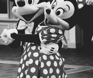 blackandwhite, minnie, and mickey image