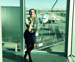 airport, boeing, and kisses image