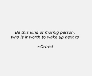 quote, love, and orfred image