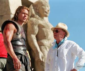 achilles, behind the scenes, and brad pitt image