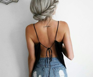 black, cool, and hairs image