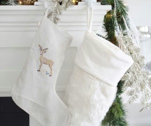 christmas, stockings, and white image
