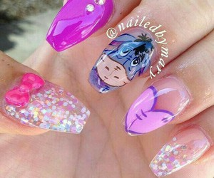 disney, nails, and gliter image