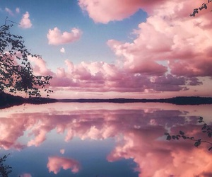 pink, sky, and water image