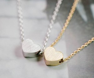 beaded necklace, crystal necklace, and heart necklace image