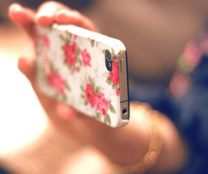 case, flowers, and vintage image