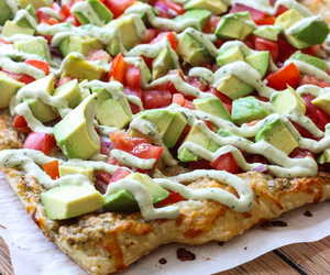 avocado, food, and pizza image