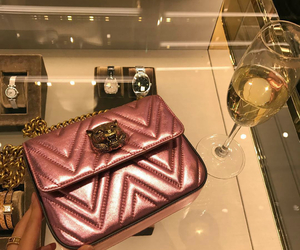 bag, champagne, and luxury image