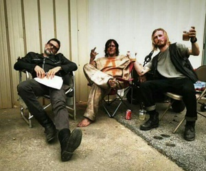 negan, dwight, and the walking dead image