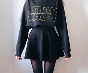 star wars, black, and girl image