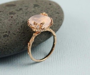 pink, ring, and stone image