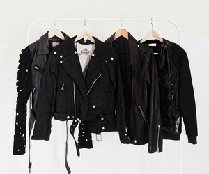 black, fashion, and jacket image