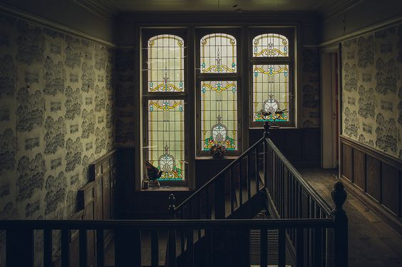 interior, stained glass, and vintage image