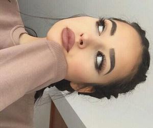 eyebrows, lips, and eyes image