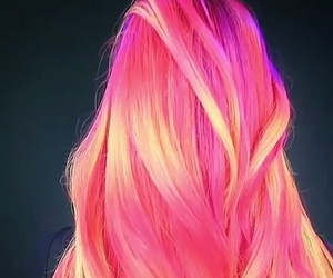hair, neon hair, and pink hair image