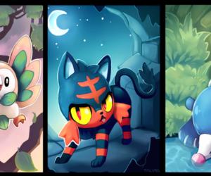 popplio, pokemon, and litten image