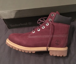 beautiful, red, and timberland image