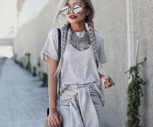 fashion, grey, and girl image