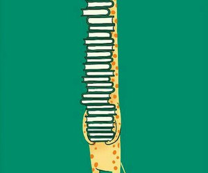 book, giraffe, and wallpaper image