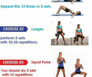 fitness, workout routine, and exercises image